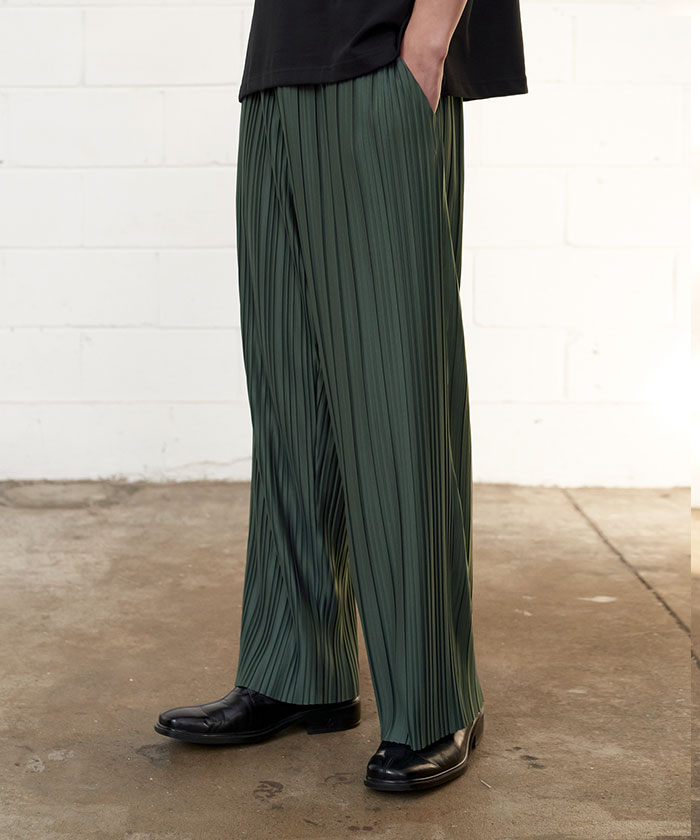 PLEATED PANTS[KHAKI]