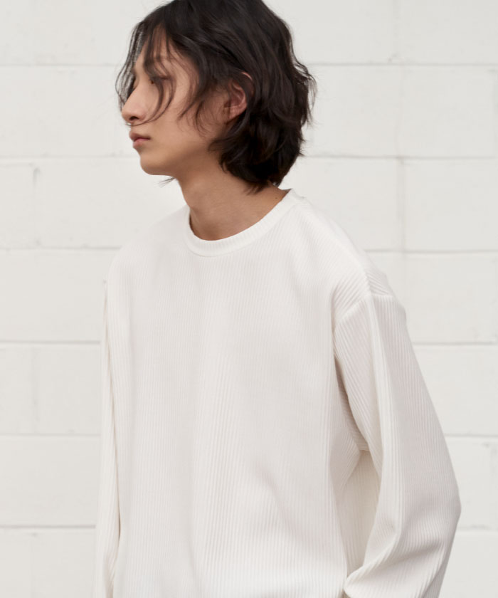 PLEATS LONG SLEEVE[WHITE]