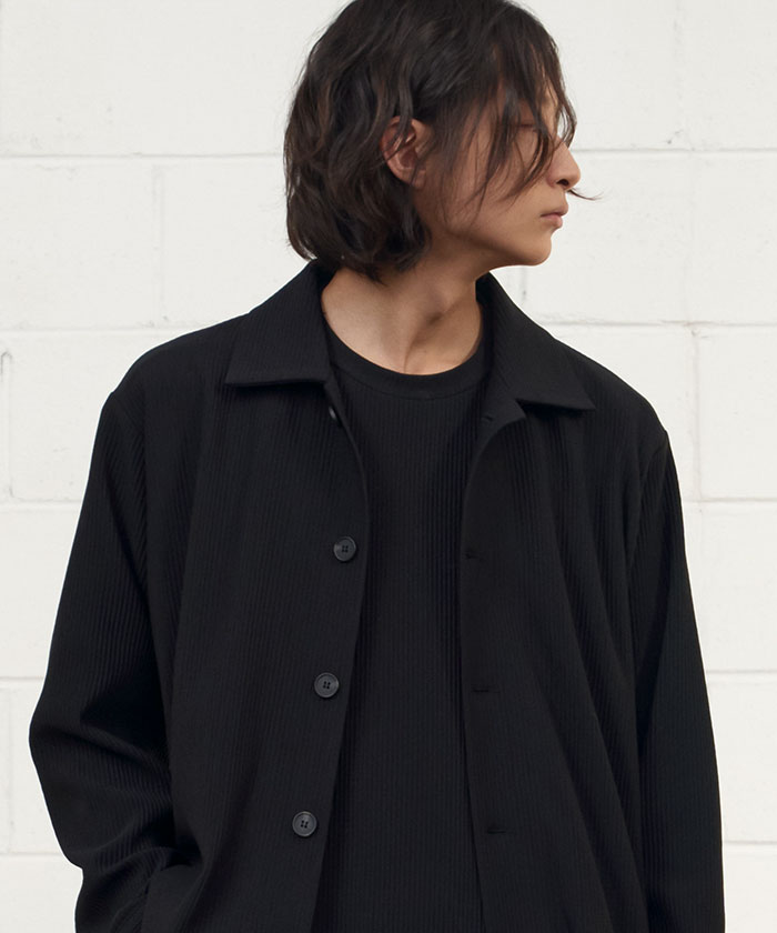 PLEATS MINIMAL JACKET[BLACK]