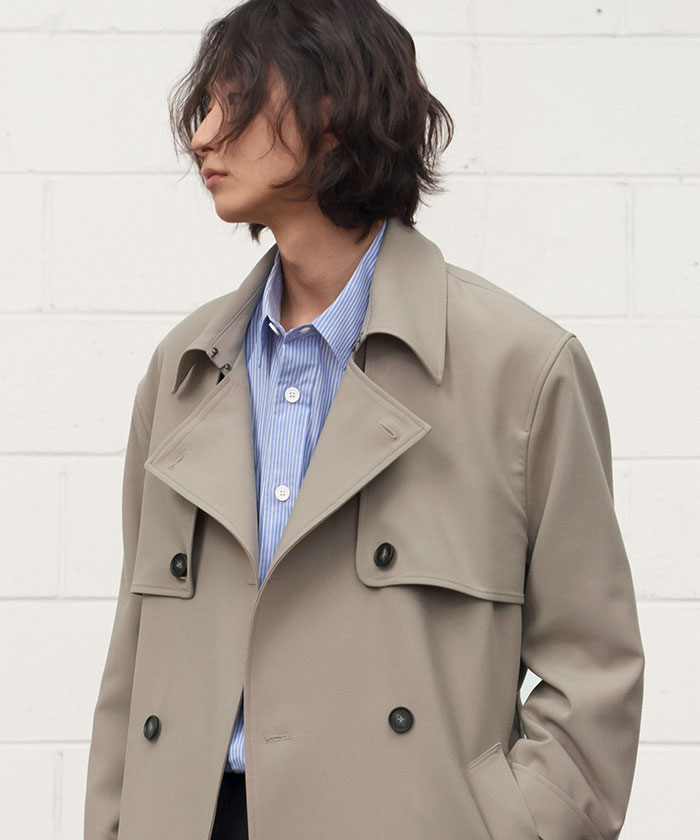 COMFORTABLE TRENCH COAT[BEIGE]