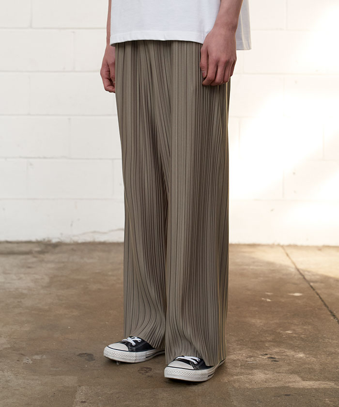 PLEATED PANTS[BEIGE]