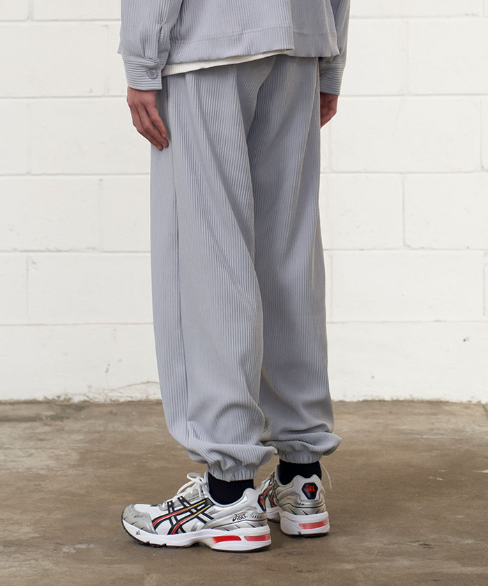 PLEATS JOGGER PANTS[GREY]